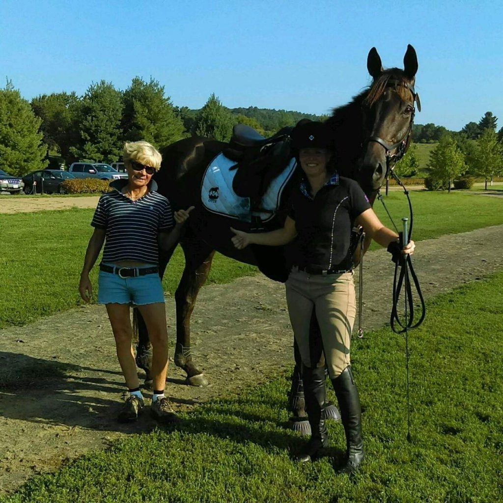 Lisa Reid with Kim and her horse Eventing